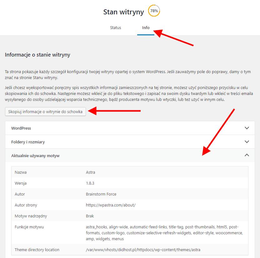 dane dla developerów