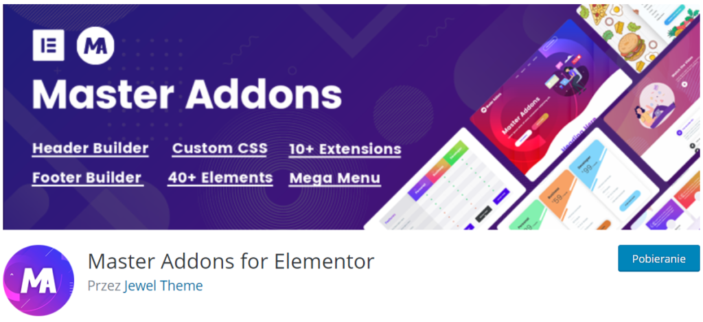 Master Addons w repozytorium WordPress