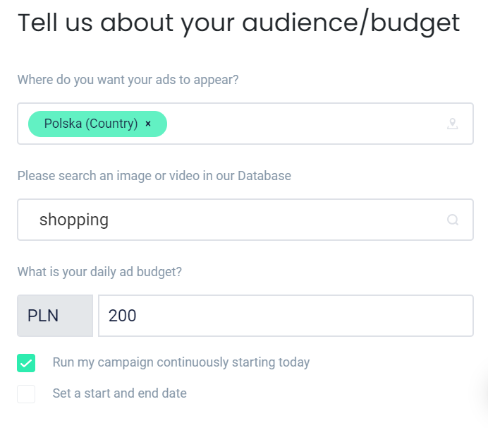 Budżet kampanii na Facebooku