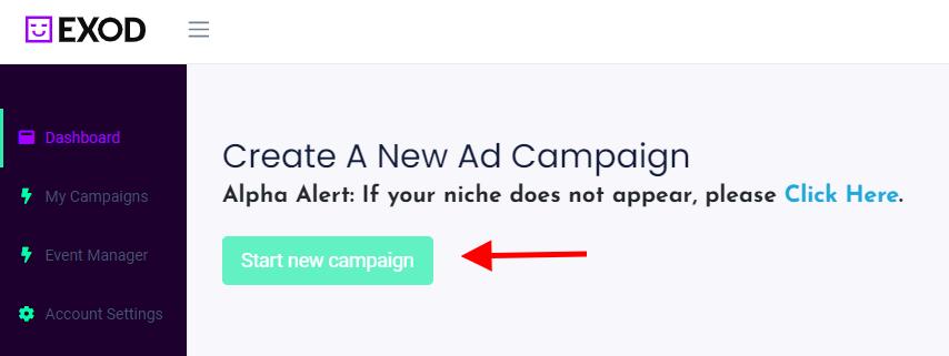 EXOD - dodawanie kampanii Facebook