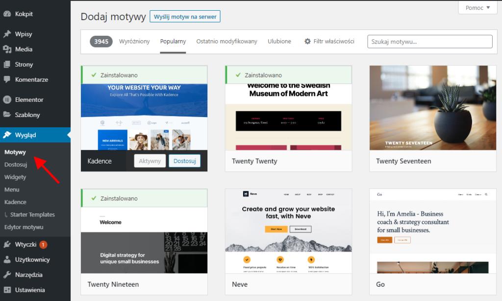 Repozytorium motywów WordPress