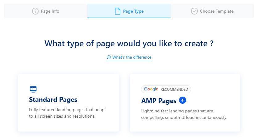 Swipe Pages i dwa różne rodzaje stron lądowania