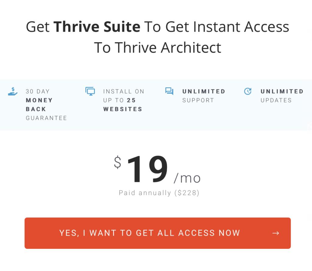 ThriveArchitectPrice