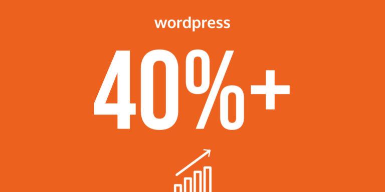 40% przekroczone WordPress