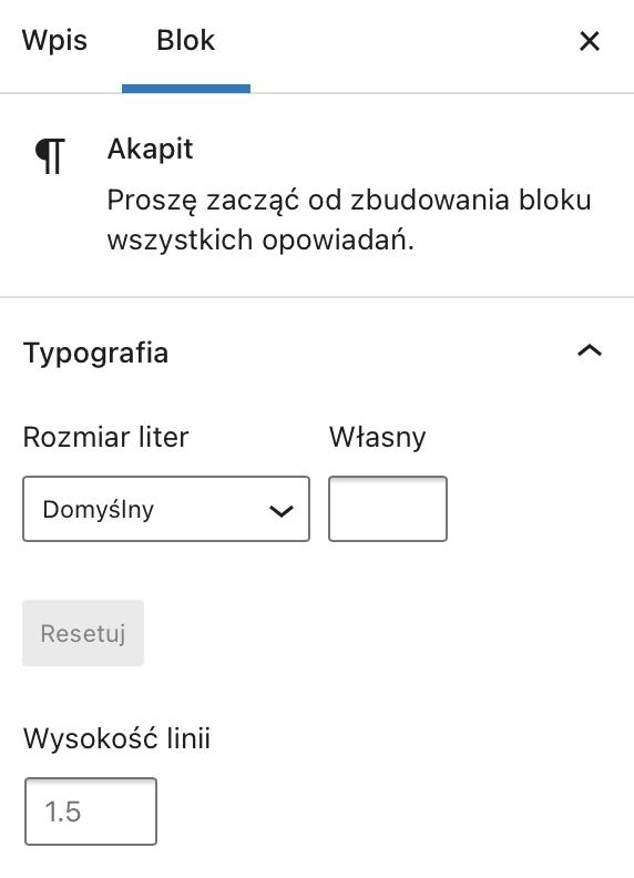 Modyfikacja typografii