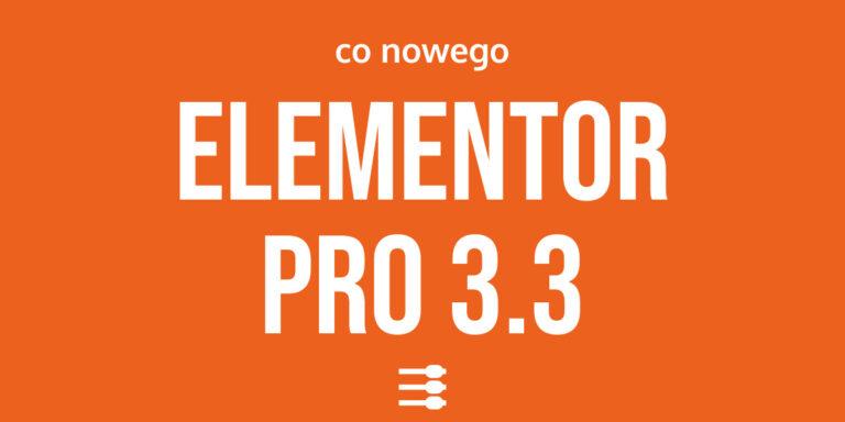 Elementor PRO 3.3